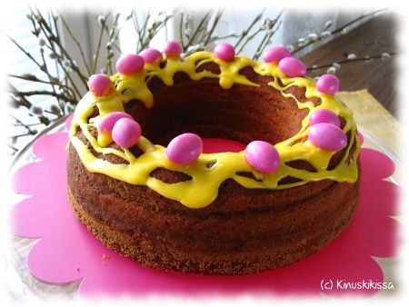 Sitruunakakku #pääsiäinen #kakku #leivonta #resepti #kinuskikissa