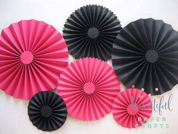 Conjunto de 8 rosetas de color de rosa por BeautifulPaperCrafts