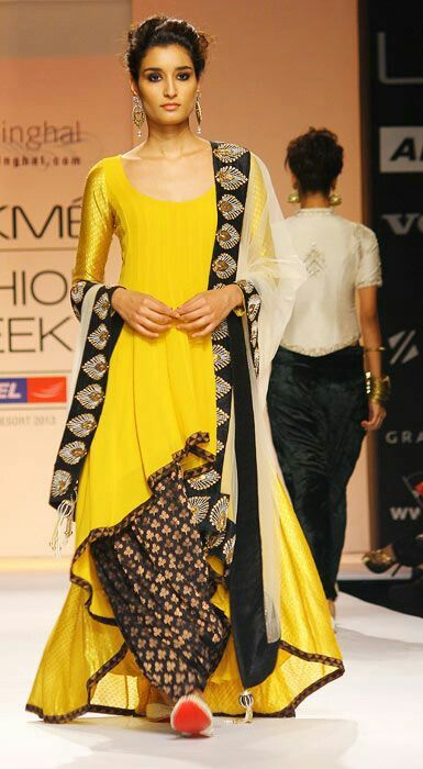 Yellow and black...patiala salwar
