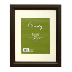 Canopy Studio Wide 11x14 Wood Picture Frame, Mahogany