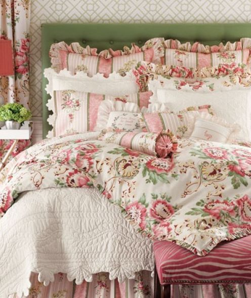 Shabby Chic - Pink Floral Cottage Sheets