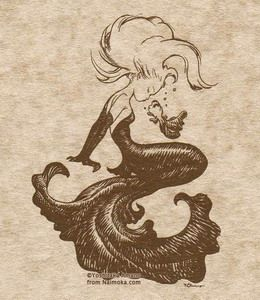 The little mermaid-wanna try and draw this.