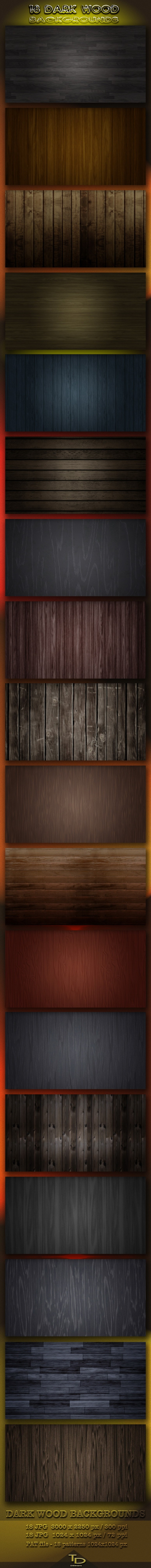 18 Dark Wood Backgrounds