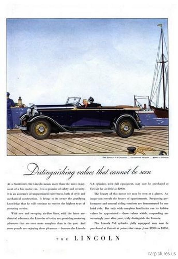 1932 lincoln convertible ad car pictures bill knight lincoln volvo 4111 s memorial dr. Black Bedroom Furniture Sets. Home Design Ideas