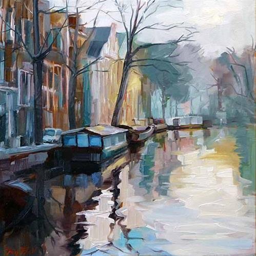 """Daily Paintworks - """"Die Grachten von Amsterdam"""" by Jurij Frey"""
