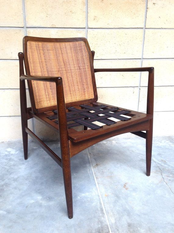 RESERVED For Nasrulalam: Ib Kofod Larsen Cane Back Chair For Selig