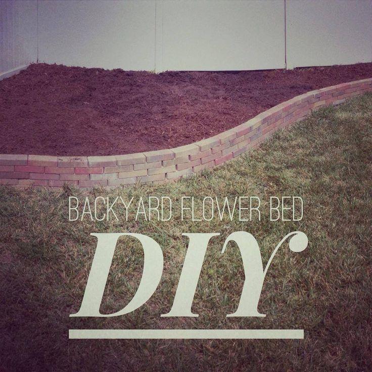 DIY Flower Bed #garden #flowerbed #backyard #DIY #project #outside