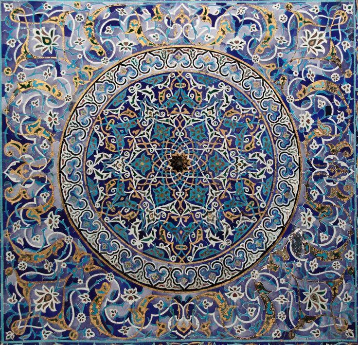 İznik tile. Yeşil Cami (Green Mosque) Bursa city, Türkiye (Turkey)