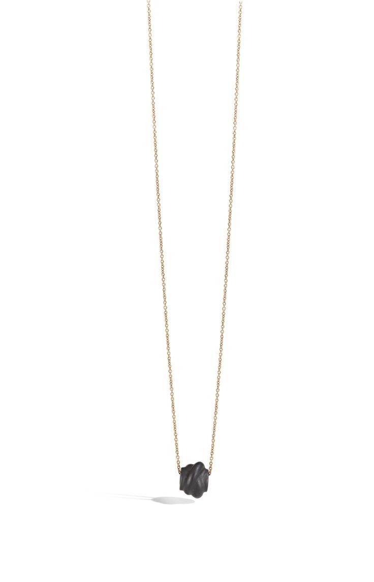 Collana in oro rosa e nodo jet necklace silver gift women gioiello moda fashion jewellery beautiful gold knot