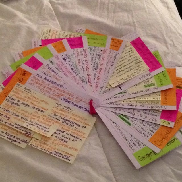 Image result for colourful revision cards