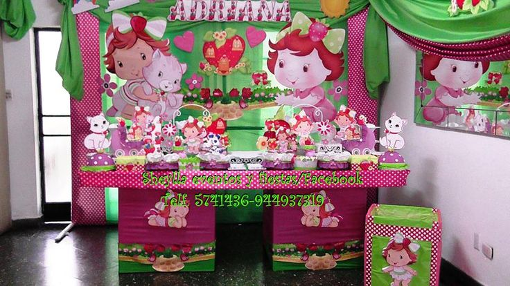 Decoraci n de fiesta infantil tem tica fresita for Decoracion hogar lima