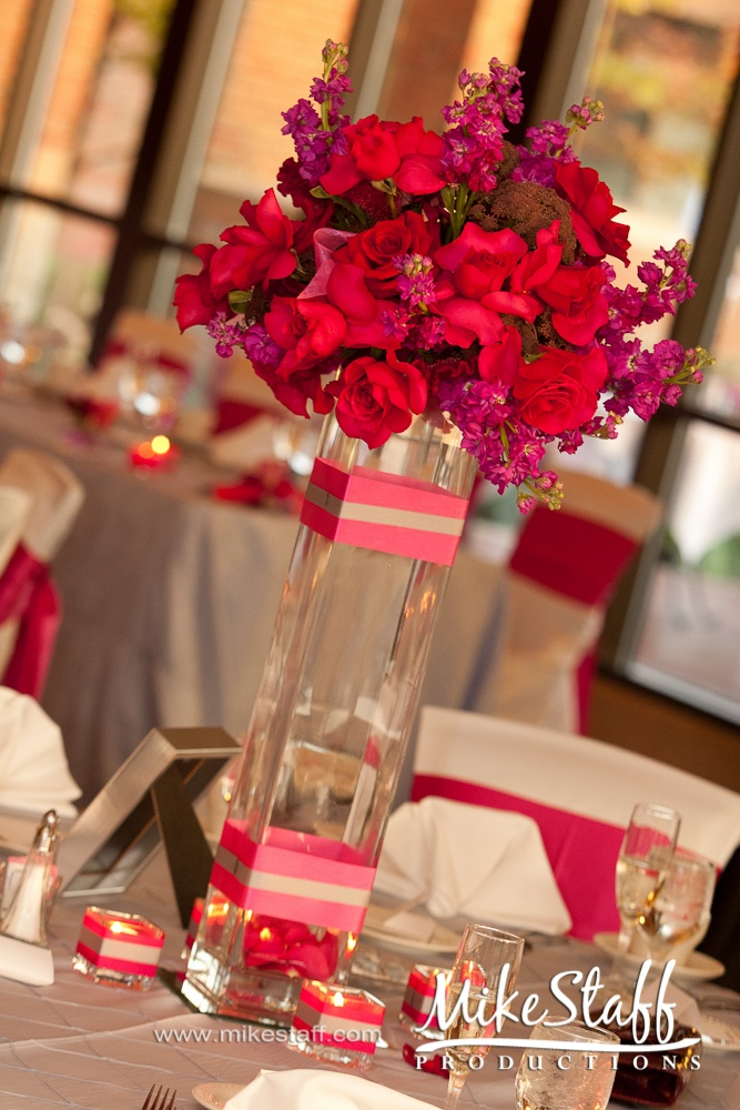 Pink Table Decorations Weddings