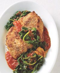 Healthy Chicken Parm- one of my favs.