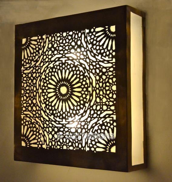 Arabesque Square Moroccan Sconce : Moroccan Lamps & Lanterns : : Tazi Designs : : :