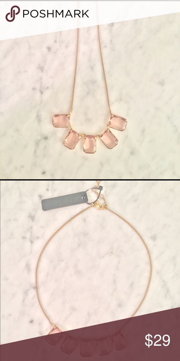 Blush & Gold Classic J Crew Necklace Blush is the IT color this Spring! Rock it with this classic number by J Crew. Gold chain features 5 blush stones. Dress it down with white jeans, chuck taylors and a tee, or dress it up with a floral dress and espadrilles. New, never worn, tag attached. Comes with J Crew duster bag and box. J. Crew Jewelry Necklaces