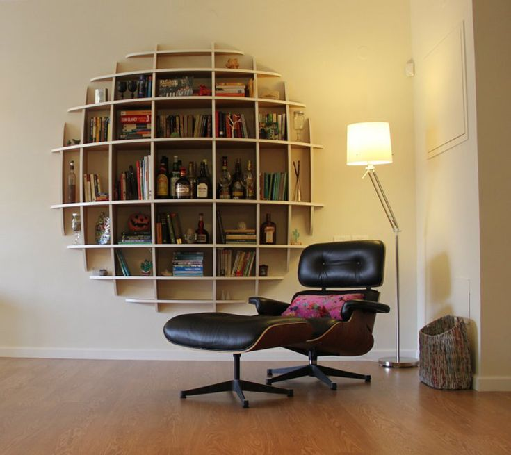 LOVE this wall shelf/liquor cabinet which has a convex profile (see link)  from desiretoinspire.net  post re an apartment inIsrael...i actually have a perfect wall for this...