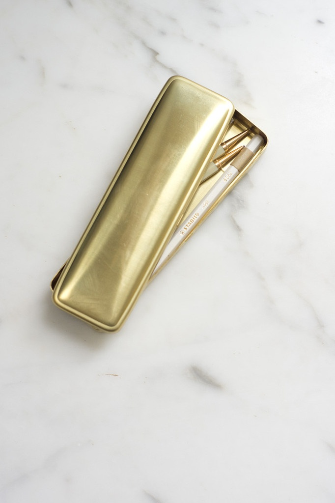 Midori Brass Pen Case, $67