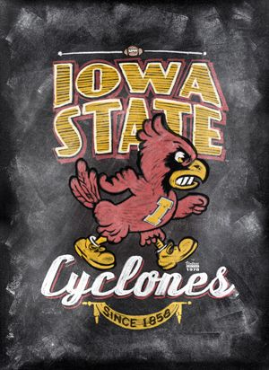 Iowa State Cyclones ChalkBoard Poster,  ©2013 CampusTown