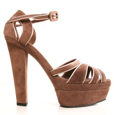 Marni Suede Platform Heels .. Do they have these in white??