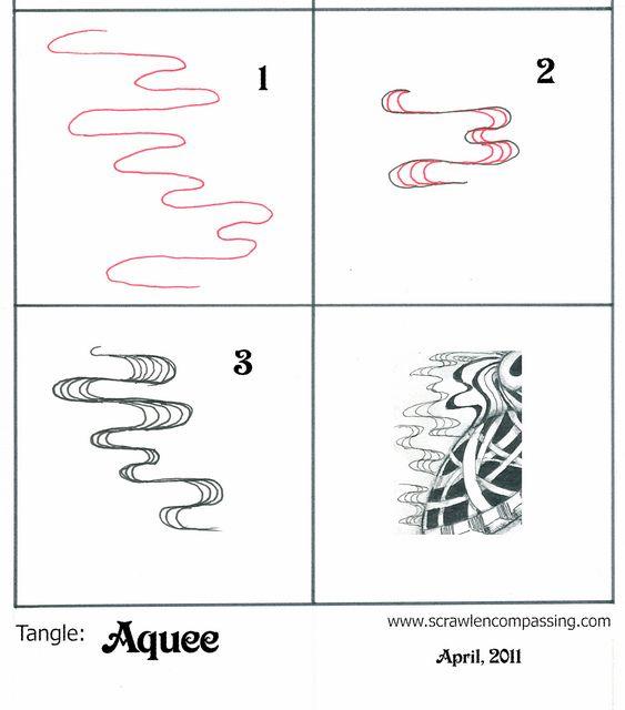 Tangle pattern: Aquee