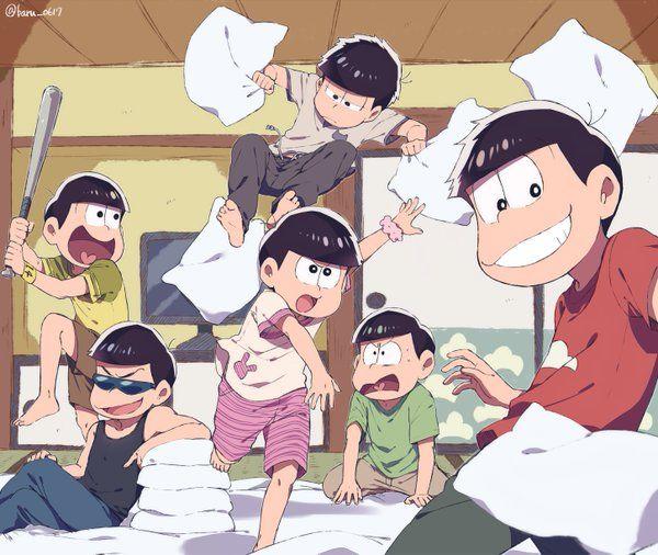 おそ松さん Osomatsu-san 枕投げ