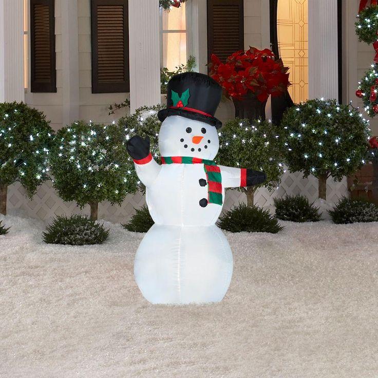 17 best ideas about Outdoor Snowman on Pinterest | Diy outdoor ...:Airblown Lighted Outdoor Snowman,Lighting