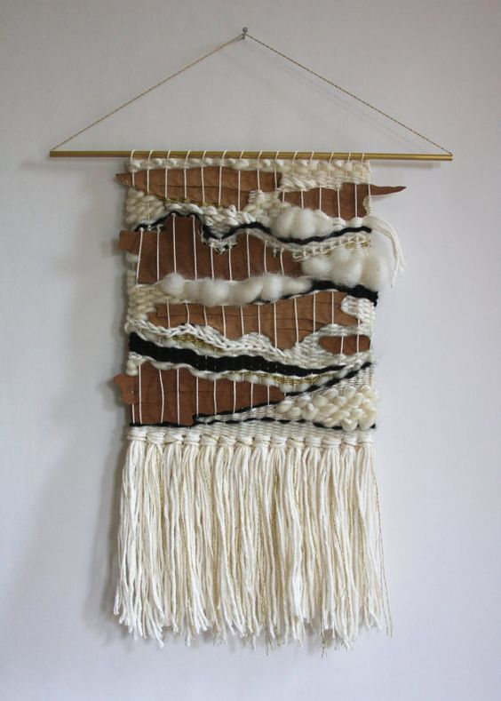 Hand Woven Wall Hanging Weaving With Natural By
