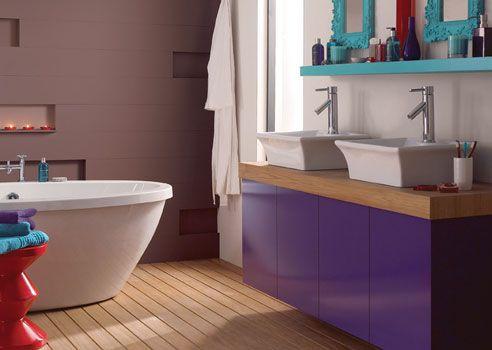 Affordable dipingere pareti rosa porpora e viola with pareti bagno - Rasare su piastrelle ...