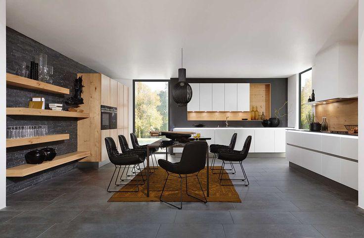 25 beste idee n over muren van de keuken op pinterest keuken kleuren lambrisering verbouwen - Houtkleur zwart ...