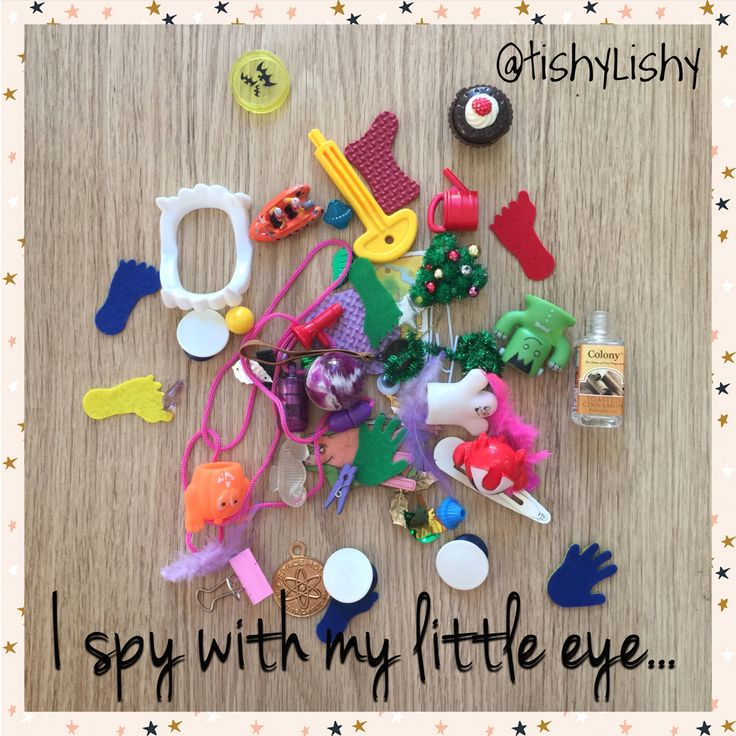 The contents of an 'I spy' bottle.