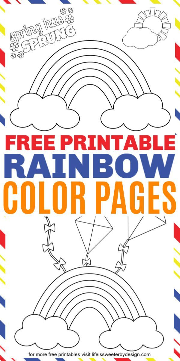 These Free Printable Rainbow Coloring Pages Are Perfect For Spring