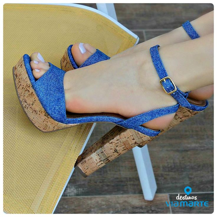 salto alto - jeans - heels - party shoes - summer - Ref. 14-21702 - Alto Verão 2015