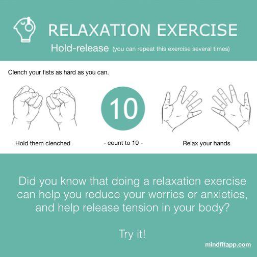 Relaxation exercise #mindfitapp #mentalhealth