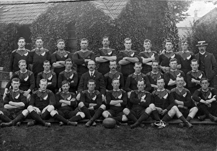 """""""Original allblacks"""" by E. Kelley - National Library of New Zealand  1905-1906  Won 34 of the 35 matches"""