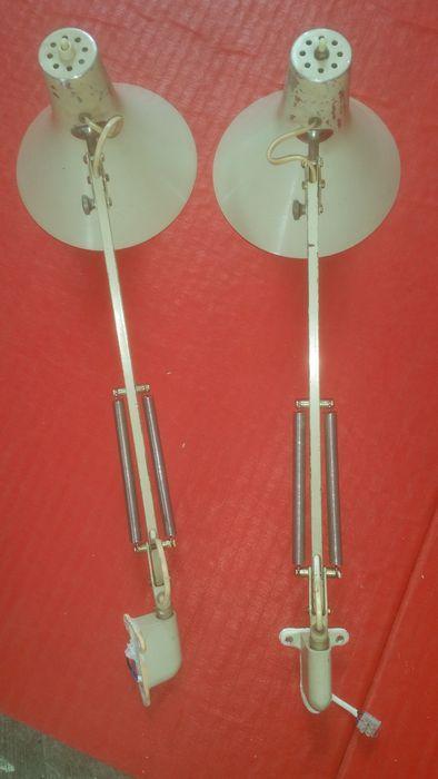 Nu in de #Catawiki veilingen:  Philips - twee zeldzame industriële werk/tekentafel lampen