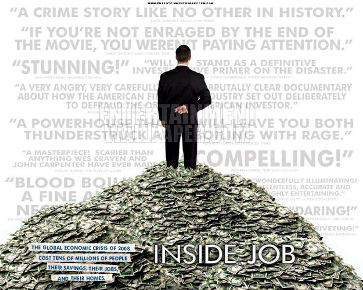 Inside Job este una dintre cele mai profunde analize realizate crizei financiare…