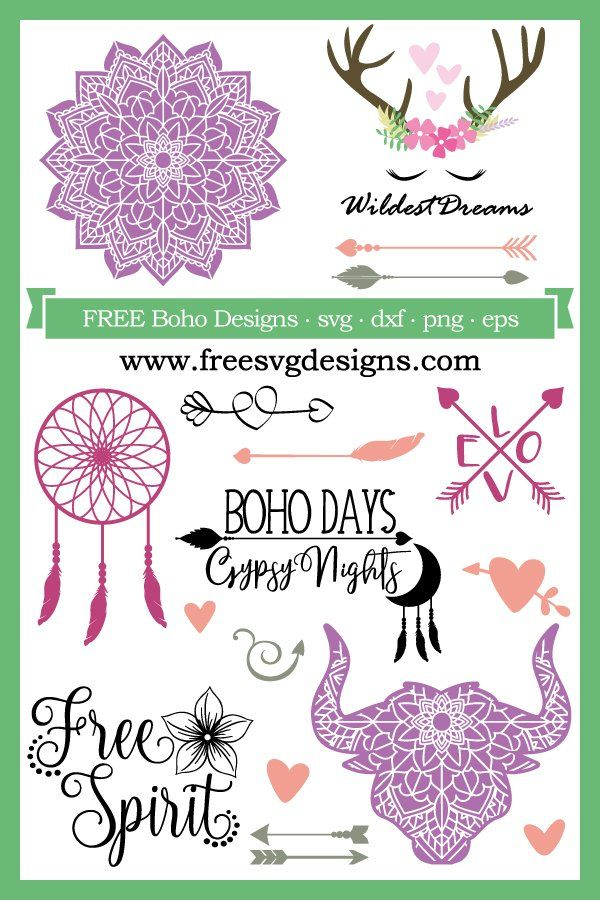 Free Boho Svg Files At Www Freesvgdesigns Com Our Free Downloads Includes Otf Ttf Svg Png And Dxf F Cricut Svg Files Free Cricut Free Cricut Projects Vinyl