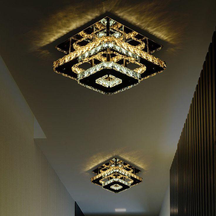 Modern Dupla camada de Cristal LEVOU luzes de Teto Luminária Lâmpada Interior lâmpadas de teto Montagem Em Superfície Lâmpada Do Teto Para O Quarto em Luzes de teto de Luzes & Iluminaçao no AliExpress.com | Alibaba Group