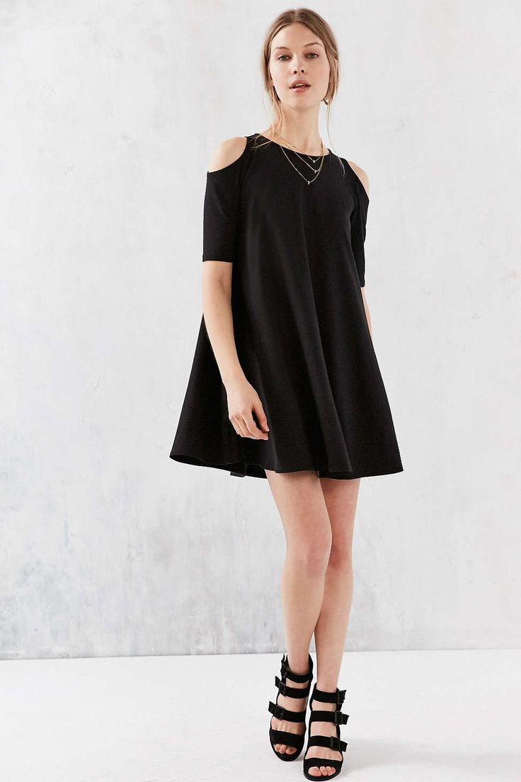 Silence + Noise Cold Shoulder Knit Frock Dress #UrbanOutfitters