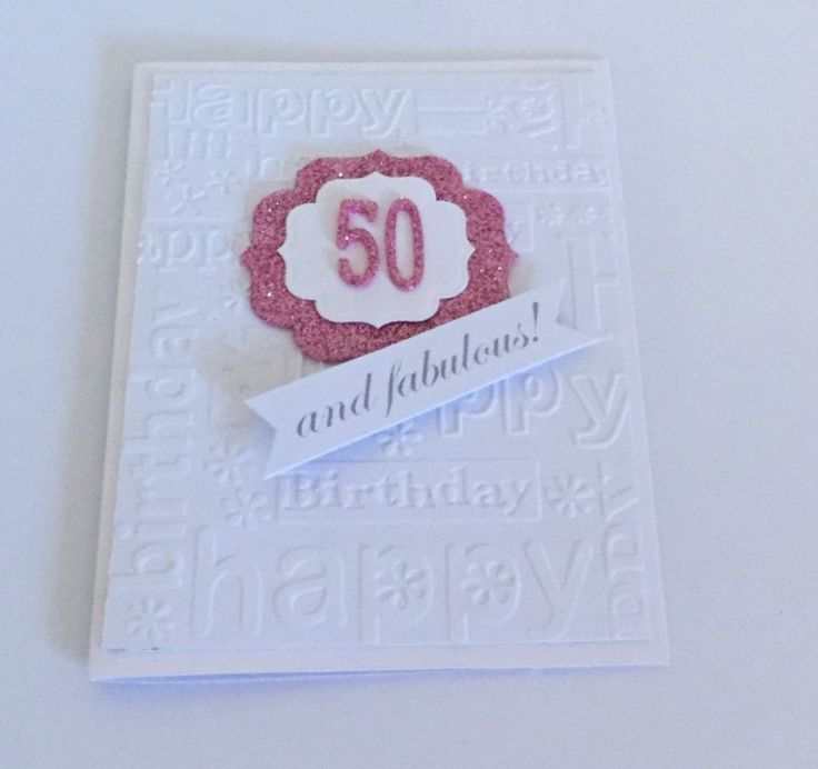 Caracara Cards 50 th Birthday Card Circuit Birthday embossing folder