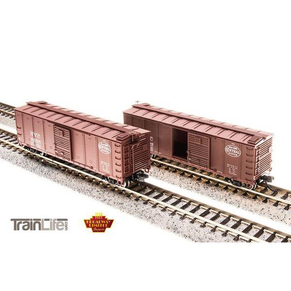 N Scale: NYC Steel Boxcar - 4-pack (Corrugated ends, pre 1955 Roman Lettering)