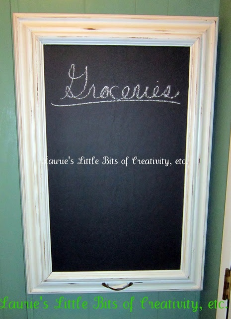 framed chalkboard to cover fuse box {tutorial}