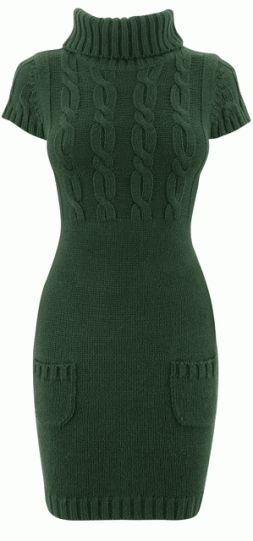 green-knitted-dress