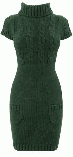 green-knitted-dress