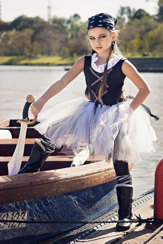 Mädchen Piraten Tutu, HALLOWEEN-Piraten-Kostüm, Mädchen Piraten-Kostüm, Mäd…