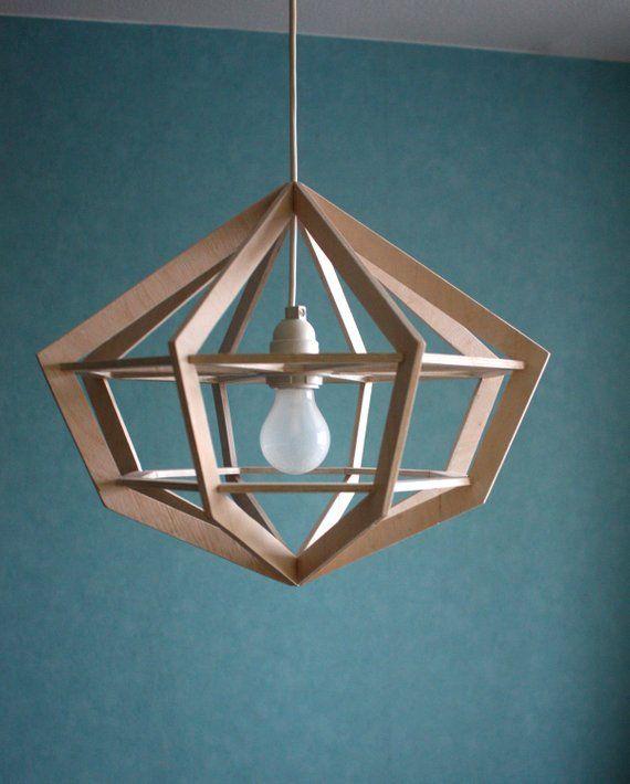 Scandinavian Pendant Lamp Shade, Modern Lighting by DomSolnca Wood Studio