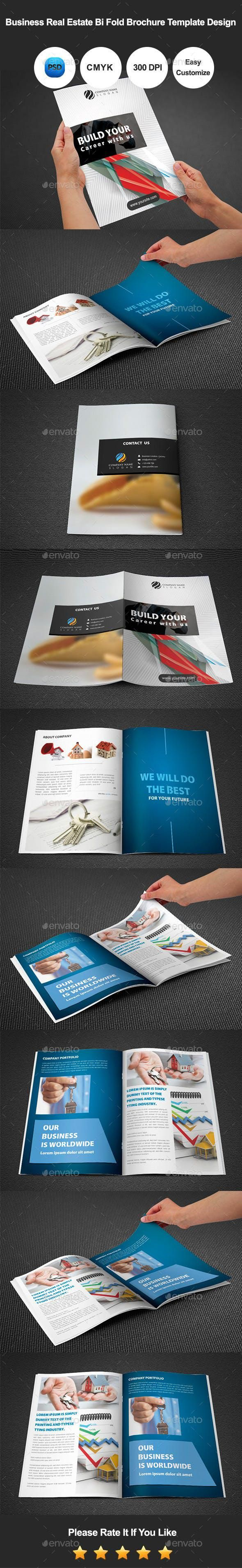 Real Estate Bi Fold Brochure Template Des #set #corporate #graphicdesign #Envato…
