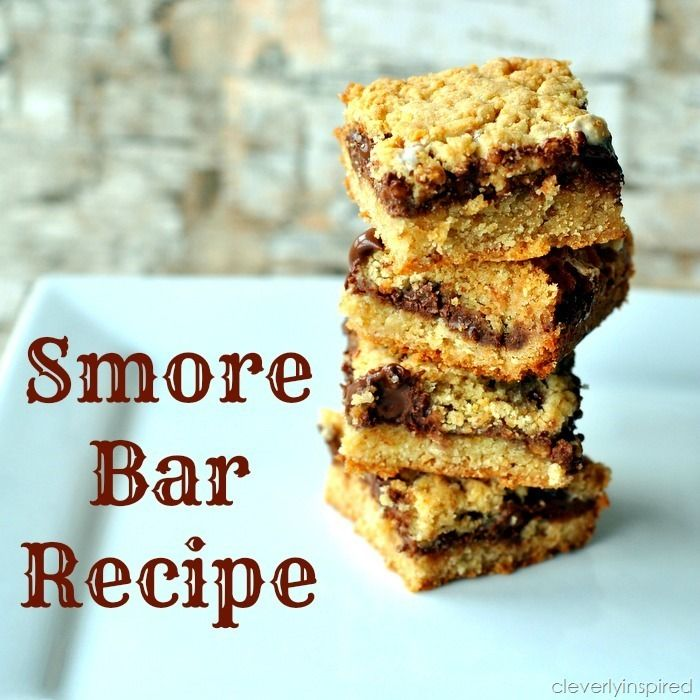 smores bar recipe @cleverlyinspired