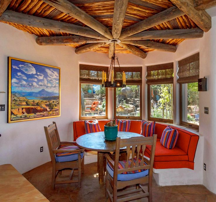 Southwest Interior Design Interior: Santa Fe, Kitchen Nook By Journey Interiors Of Santa Fe