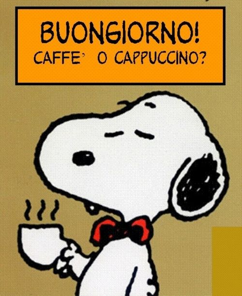 Buongiorno by Snoopy :) Lavazza Coffee Machines - http://www.kangabulletin.com/online-shopping-in-australia/espresso-point-australia-experience-the-delectable-taste-of-luxury-coffee/ #lavazza #espressopoint #australia lavazza coffee beans, coffee makers reviews and bean to cup coffee machines